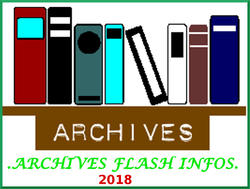 ARCHIVES FLASH INFOS :2018