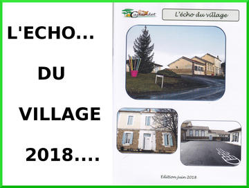 L' ECHO DU VILLAGE: JUIN 2018
